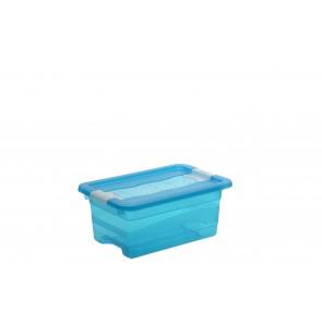 Plastový box Crystal 4 l, svěží modrý, 29,5x19,5x12,5 cm