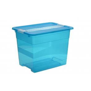 Plastový box Crystal 24 l, svěží modrý, 39,5x29,5x30 cm