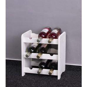 Regál na víno Riccar, na 9 lahví, odstín Lazur - bílý, 38x33x27 cm