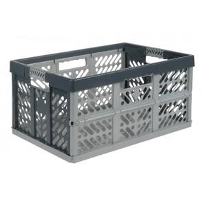 Plastový skládací box, velký, šedý, 54x37x28 cm