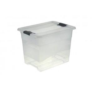 Plastový box Crystal 24 l, průhledný, 39,5x29,5x30 cm