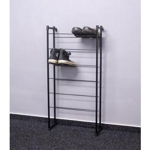 Kovový botník Praktik, černý, 92x46x21 cm, 14 párů bot