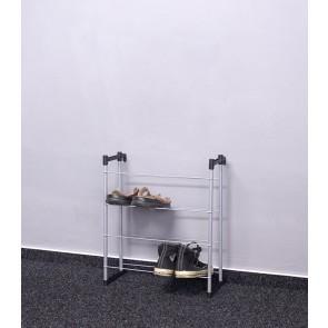 Kovový botník Praktik, 55x46x21 cm, 8 párů bot