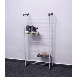 Kovový botník Praktik, 92x46x21 cm, 14 párů bot
