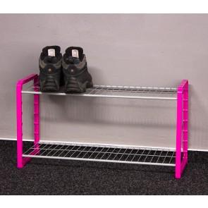 Kovový botník Combi, růžový, 6 párů bot