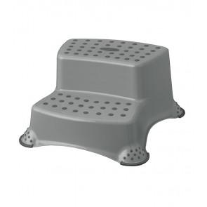 Plastové schůdky DELUXE, šedé, 40x37x21 cm