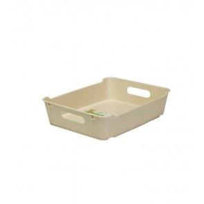 Plastový box LOFT A5, krémový, 28x22x6,5 cm - POSLEDNÍCH 20 KS