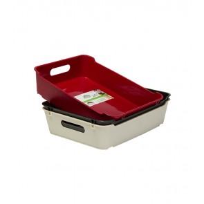 Plastový box LOFT A5, grafit, 28x22x6,5 cm - POSLEDNÍCH 16 KS