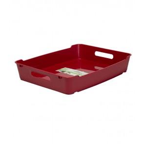 Plastový box LOFT A4, tmavě červený, 37x28,5x6,5 cm - POSLEDNÍCH 16 KS