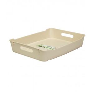Plastový box LOFT A4, krémový, 37x28,5x6,5 cm POSLEDNÍCH 13 KS
