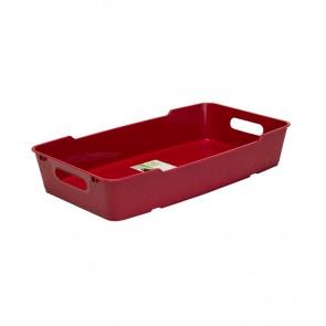 Plastový box LOFT 5,5 l, tmavě červený, 40x22x7 cm - POSLEDNÍCH 18 KS