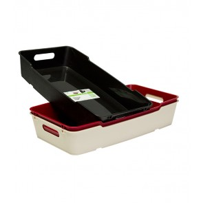 Plastový box LOFT 5,5 l, krémový, 40x22x7 cm - POSLEDNÍCH 20 KS