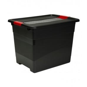Plastový box Crystal – SOLIDO 24 l, grafit - POSLEDNÍCH 17 KS