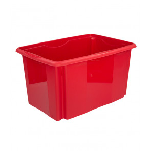 Plastový box Colours, 45 l, červený  POSLEDNÍCH 12KS