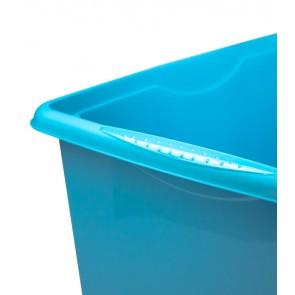 Plastový box Colours, 45 l, modrý s víkem