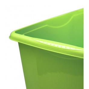 Plastový box Colours, 7 l, zelený - POSLEDNÍ 1 KS