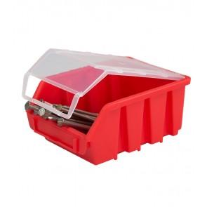 Box na drobný materiál s víkem, malý, červený