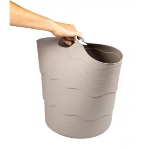 Plastový koš FLEX, 30 l, šedý - POSLEDNÍ KUS