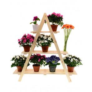 Dřevěný stojan na květiny 113x101x26 cm