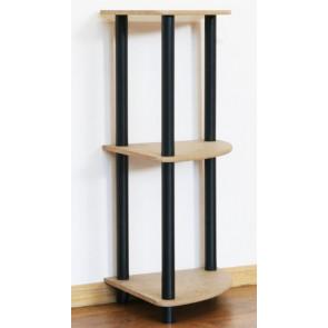 Regál rohový kombinovaný Dedal, 3 police, 74x33x33 cm