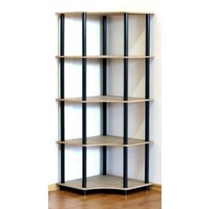 Regál rohový kombinovaný Dedal, 5 polic, 144x55x55 cm