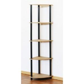 Regál rohový kombinovaný Dedal, 5 polic, 142x33x33 cm