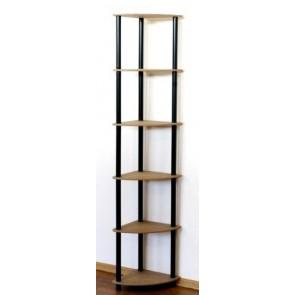 Regál rohový kombinovaný Dedal, 6 polic, 176x33x33 cm