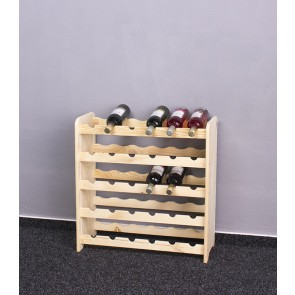 Regál na víno Rothis, na 30 lahví, provedení Natur, 65x63x27 cm