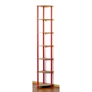 Regál rohový kombinovaný Dedal, 7 polic, 210x33x33 cm