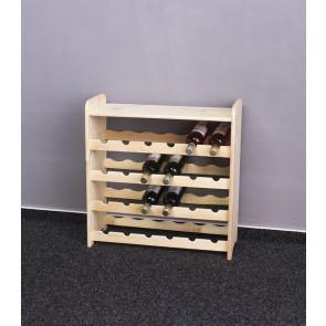 Regál na víno Rubit, na 24 lahví, odstín Natur, 65x63x27 cm