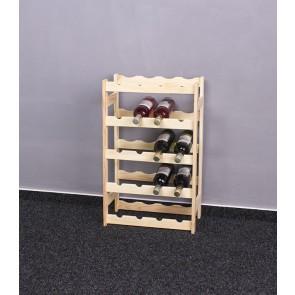 Regál na víno Rifor, na 20 lahví, natur, 70 x 44 x 25 cm