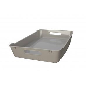 Plastový box LOFT A4, šedý, 37x28x6,5 cm