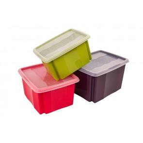 Plastový box Colours, 45 l, zelený bez víka, 55x39,5x29,5 cm - POSLEDNÍ KUS