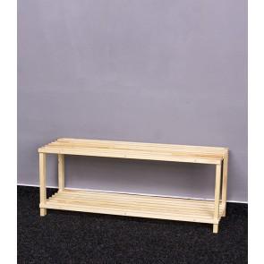 Dřevěný botník RBO-2, 30x77x26 cm