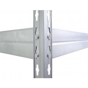 Kovový regál Corner, 4 police,180x150x45 cm - 300 kg