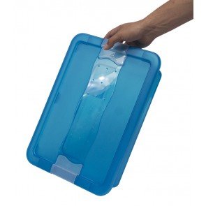 Plastový box Crystal 7 l, svěží modrý, 39,5x29,5x9,5 cm - POSLEDNÍ 2 KS