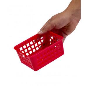 Plastový košík, A7 červený, 14x11x6 cm - POSLEDNÍCH 15 KS