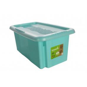 Plastový box Colours, 7 l, modrý s víkem