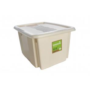 Plastový box Colours, 15 l, krémový s víkem