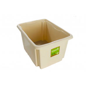 Plastový box Colours, 24 l, krémový s víkem