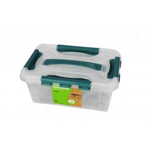 Plastový Clipp box, 4,2 l , průhledný ,29x19x12,4 cm