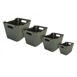 Plastový box LOFT 1,8 l, grafit, 19,5x14x10 cm - POSLEDNÍCH 25 KS