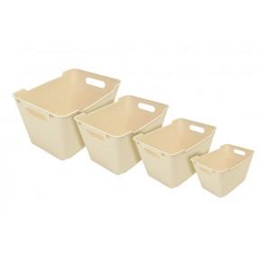 Plastový box LOFT 1,8 l, krémový, 19,5x14x10 cm.
