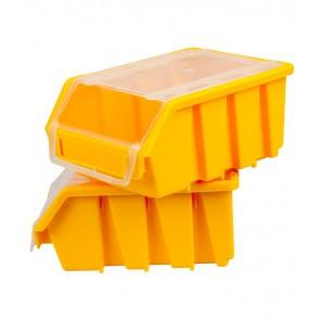 Box na drobný materiál s víkem, malý, žlutý