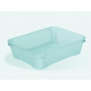 Plastový košík Mirko, A5, modrý, 26,5x20x7 cm