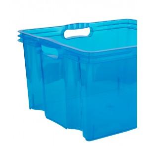 Plastový box Multi XL, svěží modrý, bez víka, 43x35x23 cm