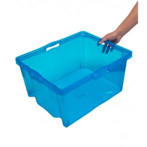 Plastový box Multi XXL, svěží modrý, bez víka, 52x43x26 cm