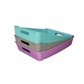 Plastový box LOFT A5, světle modrá , 28x22x6,5 cm - POSLEDNÍCH 5 KS