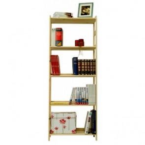 Dřevěný regál Rosar, 5 polic, 166x83x33 cm
