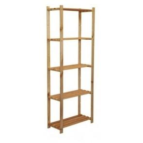 Dřevěný regál Ross, 5 polic, 170x65x30 cm